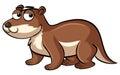 Beaver with sad eyes Royalty Free Stock Photo