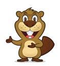 Beaver showing something