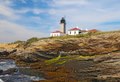 The Beavertail Light on Conanicut Island Stock Images