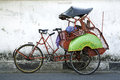 Becak cyclo taxi yogyakarta java indonesia Stock Photography