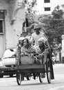 Becak oh becak is a traditional transportation in indonesia Royalty Free Stock Images