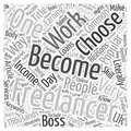 Becoming A Freelancer word cloud concept background