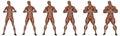 Becoming a muscular man - 3D render