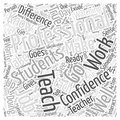 Becoming a Truly Professional Teacher word cloud concept vector background