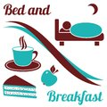Bed and breakfast Royalty Free Stock Image