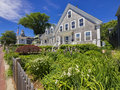 Bed and breakfast inn grey shingle at the furthermost end of cape cod in provincetown ma usa Stock Photos