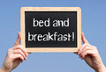 Bed and breakfast sign Royalty Free Stock Photos