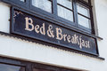 Bed breakfast a sign on a property in england Royalty Free Stock Photo