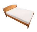 Bed isolated with wood frame wooden Royalty Free Stock Images