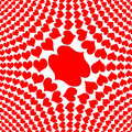 Bed sheet design love sign for printing on cloth Royalty Free Stock Photography