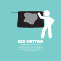 Bed wetting symbol vector illustration Royalty Free Stock Image