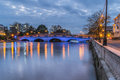 Bedford embankment the bridge crossing the great ouse Royalty Free Stock Photo