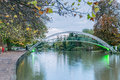 Bedford footbridge in on the great ouse Royalty Free Stock Images