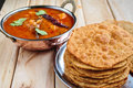 Bedmi aloo sabji poori with spicy Royalty Free Stock Photography