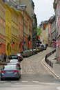 Bednarska street in warsaw poland is located the central district of at the mariensztat neighbourhood near the old town this is Royalty Free Stock Image