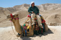 Bedouin man jerichu isr apr on a camel on april famously shepherds were the first to discover the dead sea scrolls in the Stock Images