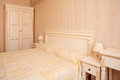 Bedroom antique style decorated interior Royalty Free Stock Images