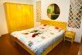 Bedroom bed and wardrobe Royalty Free Stock Photo