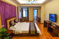 Bedroom of deluxe suites this is the in a business hotel taken in chongqing city china Stock Photography