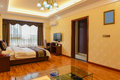 Bedroom of deluxe suites this is the in a business hotel taken in chongqing city china Royalty Free Stock Photos