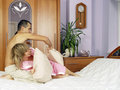 Bedroom fights Royalty Free Stock Photography