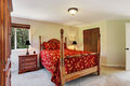 Bedroom with high pole bed and wardrobe Royalty Free Stock Photo