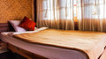 Bedroom in hut resort hotel Royalty Free Stock Photo