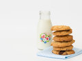 Bedtime Snack of Cookies And Milk Royalty Free Stock Photo