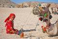 Beduinlivstid Arkivfoton