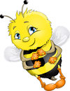 Bee the animation on a white background Stock Photo