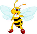 Bee cartoon bees are cute and adorable style Royalty Free Stock Images