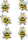 Bee cartoon collection Stock Image