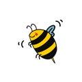Bee cartoon Royalty Free Stock Photo