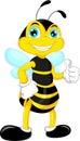 Bee cartoon thumb up vector illustration of Royalty Free Stock Photography