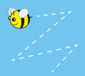 Bee chubby buzz character flying with trail Stock Photography