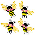 Bee costume cartoon Royalty Free Stock Photo
