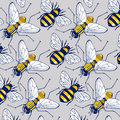 Bee fly background pattern Royalty Free Stock Image