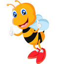 Bee giving thumb up illustration of Stock Images