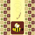 Bee greeting card Royalty Free Stock Photo