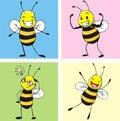 Bee Happy Royalty Free Stock Photography