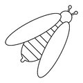 Bee honey insect insect icon thin line
