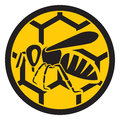 Bee honey sign symbol Stock Photo