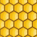 Bee honeycomb, yellow, hexagons texture, background vector