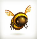 Bee icon computer illustration on white background Royalty Free Stock Photos