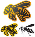 Bee icon honey symbol Stock Photo