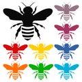 Bee icons set