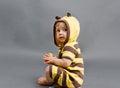Bee kid Royalty Free Stock Photo