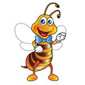 Bee mascot illustration of funny Royalty Free Stock Images