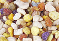 Bee pollen granules colorful extreme macro for background Royalty Free Stock Photography