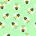 Bee seamless pattern